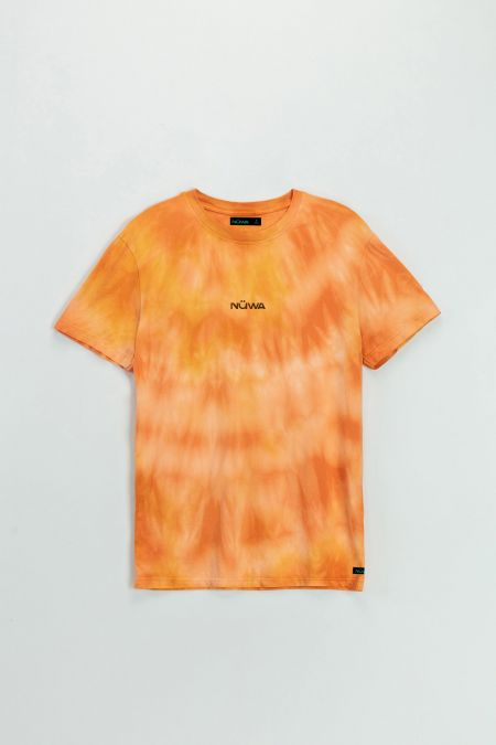 Add Color To Your Life - Organic Cotton Flame Tie Dye T-shirt