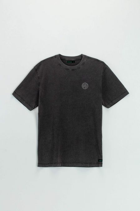 Oversize Premium Tee - Organic Cotton T-Shirt in Washed Black