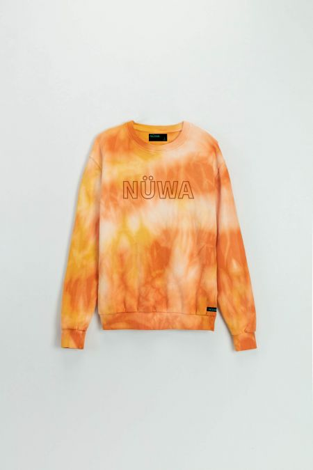 Add Color To Your Life - Organic Cotton Flame Tie Dye Sweatshirt