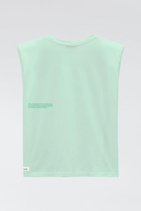 Muscle Tee - Organic Cotton Padded Shoulder T-shirt in mint