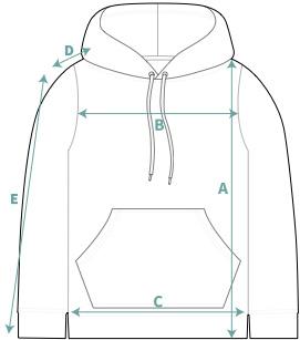 Hoodies Size Chart